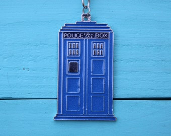 Doctor Who Inspired Tardis Keychain