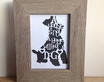 Personalised papercut dog or cat