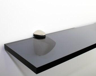 Acrylic Coloured Shelves - Smoked Grey for Interiors