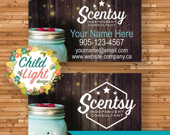 AUTHORIZED SCENTSY VENDOR - Business Cards - Custom Business Card - Chasing Fireflies - Personalized Cards - Print Your Own on Vistaprint