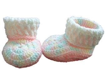 Pastel Pink Baby Booties