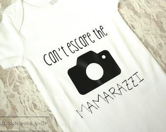 Can't Escape the Mamarazzi Baby Onesie - BodySuit - Unisex - Short-Sleeve - Newborn to 24 Months