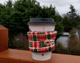 Reusable Coffee Sleeve - Plaid
