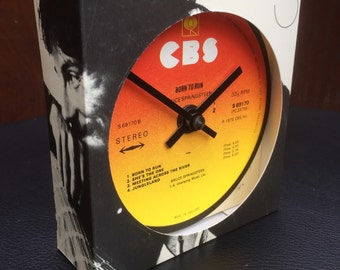 Bruce Springsteen - Born To Run. Clock made from record
