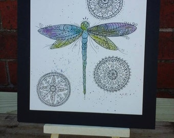 Dragonfly picture,dragonfly illustration,dragonfly watercolour painting,dragonfly,nature illustration,mandala,dragonfly art,insect art,art