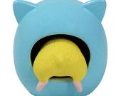 FREE shipping worldwide. Hamster Figurine Blue
