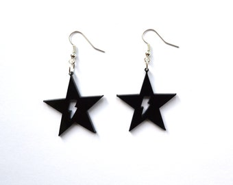 David Bowie earrings, Blackstar, Ziggy Stardust