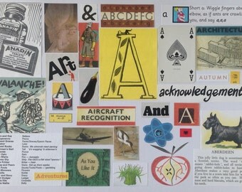 A Is For ......... Alphabet Collage