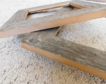8x10 and 11x14 Distressed Gray Barnwood frames (#5359)