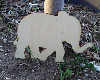 DIY supply/5 wooden elephants/unfinished elephants/unfinished animals/wooden supplies/laser cut