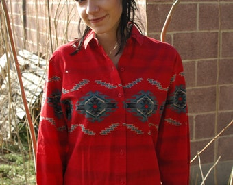 Red Rider Button-Up