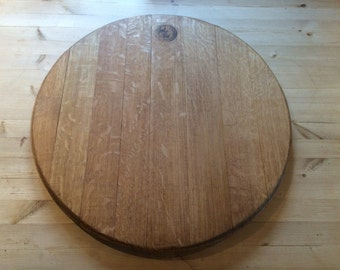 Solid oak wine barrel centrepiece
