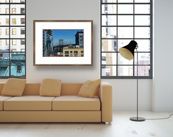 Manhattan Bridge photograph fine art print New York City Brooklyn chromogenic c-print full color home office condo apartment