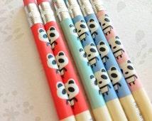 Cute panda mechanical pencil / kawaii stationery / cute stationery / office supplies / panda / journals / planner