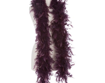 Eggplant 40 Gram Chandelle Feather Boas - 6 Feet Long - Use as Trim or Wear as a Scarf - Halloween Party Favors - Decorations - Feathers