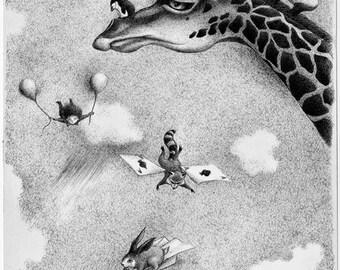 "Slow Art prints..""Flight Lessons"" Fine Art print"