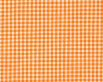 """Orange Gingham, 1/8"""" Orange and White checked fabric, Robert Kaufman Fabric, 100% cotton fabric"""