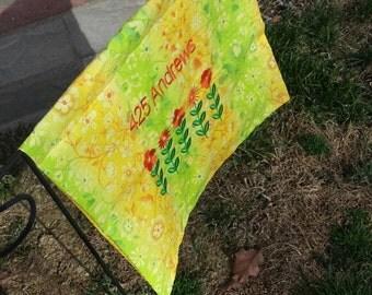 Custom made garden flag