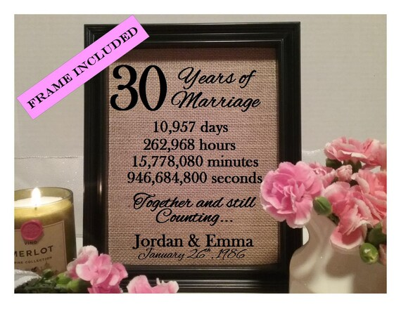 30 years of marriage 30th wedding anniversary 30 years of for Best marriage anniversary gifts