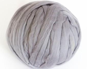 Merino Wool Yarn, Unspun Wool Roving, 100% Merino Wool, Bulky Yarn, DIY, Chunky Blanket, chunky knit, chunky throw, arm knit blanket