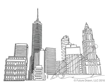 New York Skyline in One-Line