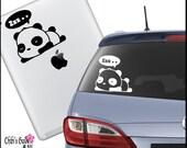 Sleepy Panda Vinyl Car Decal