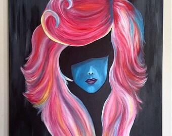 "Abstract portrait multicolor 24x36"""