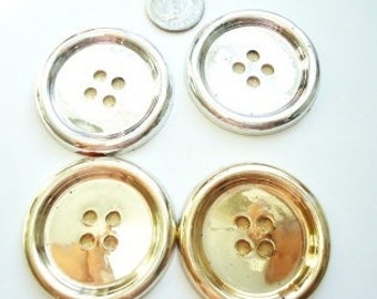 Vintage Plastic Gold & Silver Light Weight Buttons