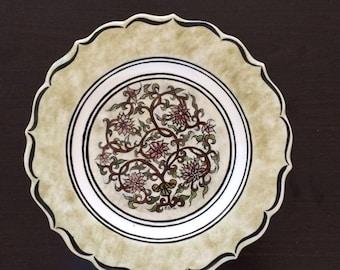 Handmade decorative plate  650 gr  25 cm