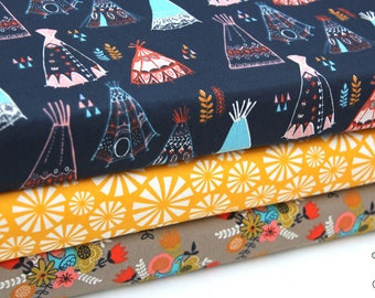 SALE 5% off Birch Fabrics - Teepees, Geomertrics, Flowers and Birds - Shop Curated Collection - Fat Quarter, Half Yard, By the Yard Bundle