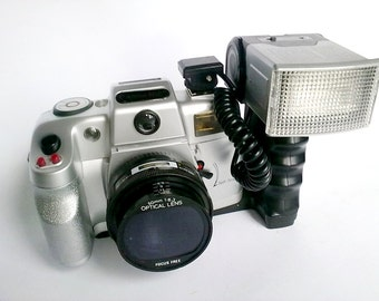 SALE 30% OFF Vintage Plastic Camera CANOMATIC Kit 7000SEL, Collectible Old Camera - made in 90s