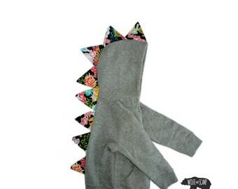 Toddler Comic Book Dino Hoodie - Kids Geek Hoodie, Dinosaur Hoodie, Monster Hoodie, Dragon Hoodie