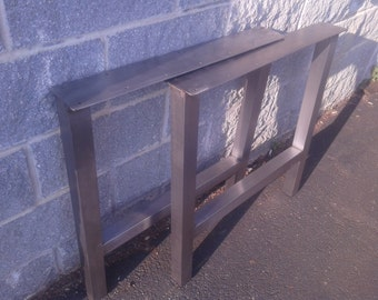 Brushed Stainless H-Frame Table/Desk/Bench Legs - Any Size!