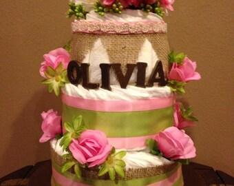 Custom Diaper Cake