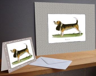 Fun Beagle Gift Print and greeting card
