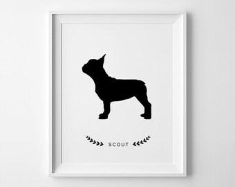 Pet Portrait, Pet Silhouette, Custom Silhouette, Dog Silhouette, Cat Portrait, Dog Portrait, Cat Poster, Pet Print