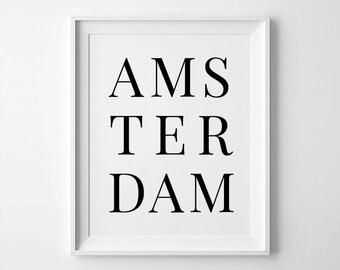 Amsterdam Print, Amsterdam Coordinate, Amsterdam Poster, Netherlands Print, Coordinates Art, Coordinates Prints
