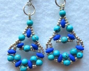 Happy turquise dangle earrings