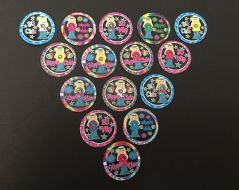Hippie Chick Buttons Set of 15