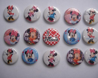 Minnie Mouse Classic Buttons Set of 15