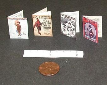 Miniature WW1 Sheet Music