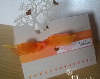 10 Bespoke Personalised 'Ombre' Laser Cut place Card