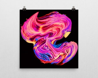 "Vibrant abstract painting Giclee print — ""Flow"" // 12x12 or 18x18 // Wall art // Home decor"