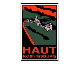 Postcard - Castle of Haut-Koenigsbourg, Alsace, greeting card, decorative stationery, vintage, retro card card