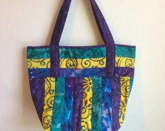 quilted boho bag