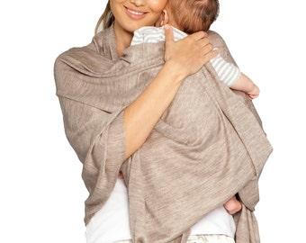 Versatile Breastfeeding Shawl - Taupe