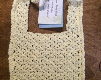 Crocheted Handmade Baby Bib Yellow