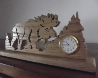 Moose Desk Clock Made in Aroostook County Maine