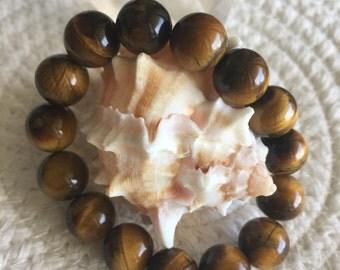 Tiger's eye healing gemstone crystal bracelet