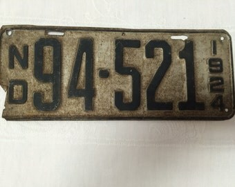 1924 North Dakota License Plate